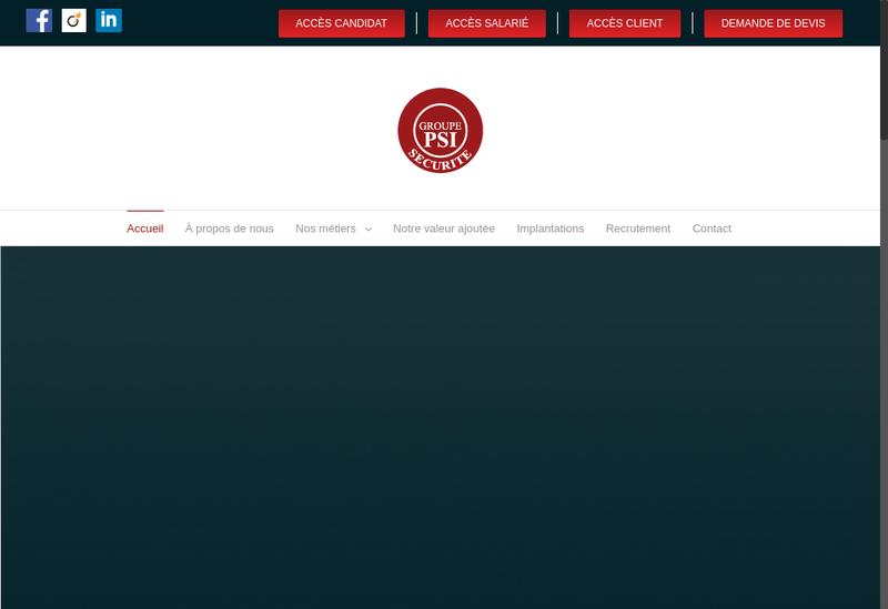 Capture d'écran du site de Protection Securite Industrie