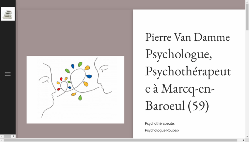 Capture d'écran du site de Pierre van Damme