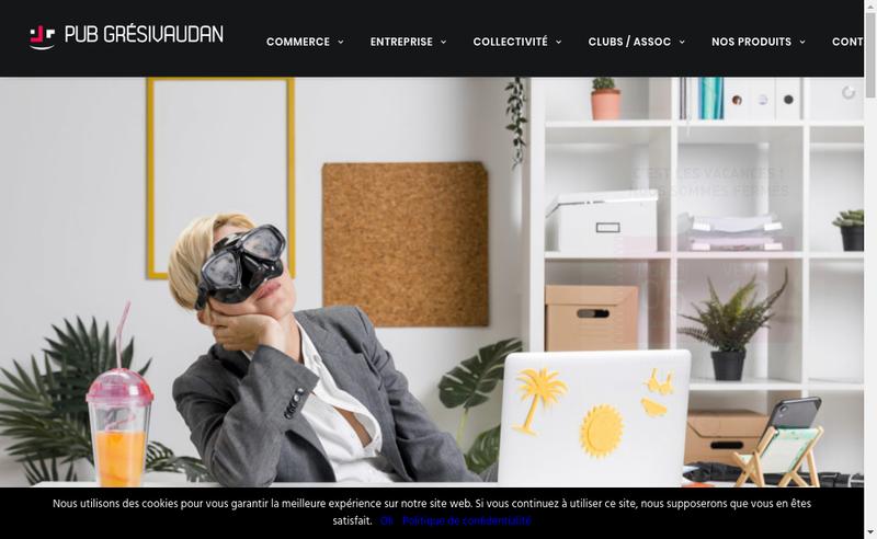 Capture d'écran du site de Pub Gresivaudan
