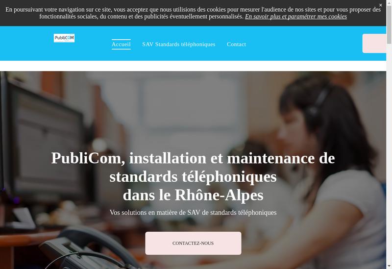 Capture d'écran du site de Publi Com