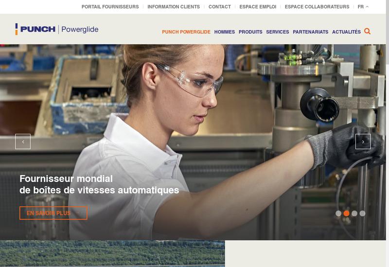 Capture d'écran du site de Punch Powerglide Strasbourg