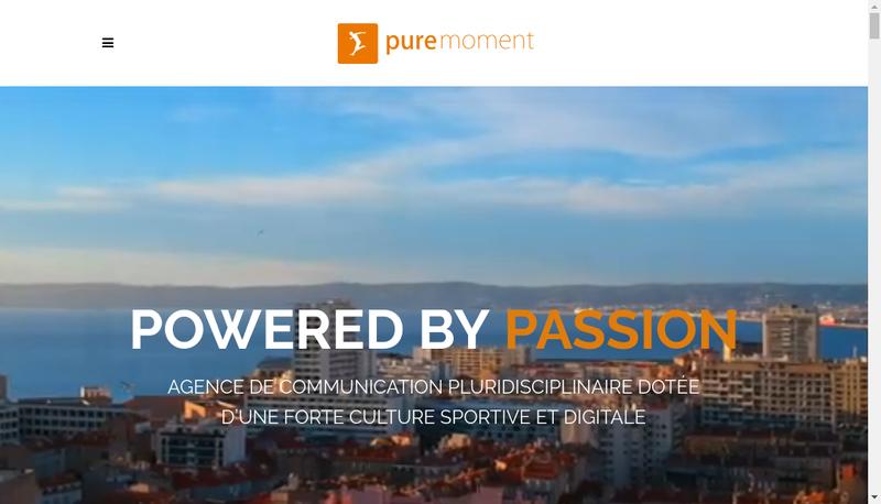 Site internet de Pure Moment