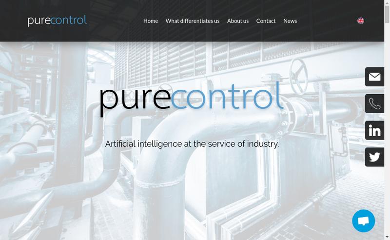 Capture d'écran du site de Purecontrol