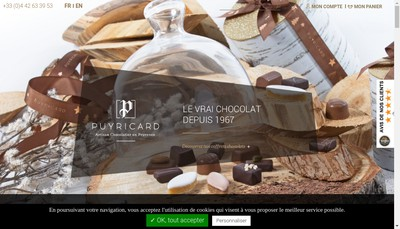 Site internet de SAS Chocolaterie de Puyricard
