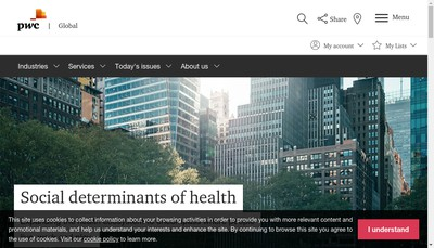 Site internet de Pricewaterhousecoopers Audit