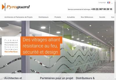 Site internet de Pyroguard France
