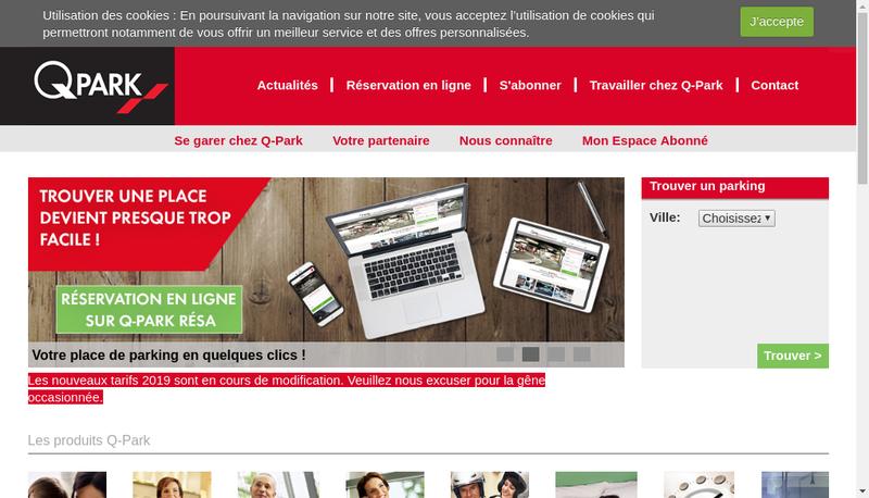 Capture d'écran du site de Parcofrance Services