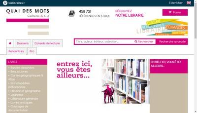 Site internet de Quai des Mots Cultures &Cie