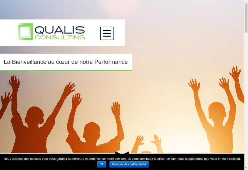 Capture d'écran du site de Qualis Consulting
