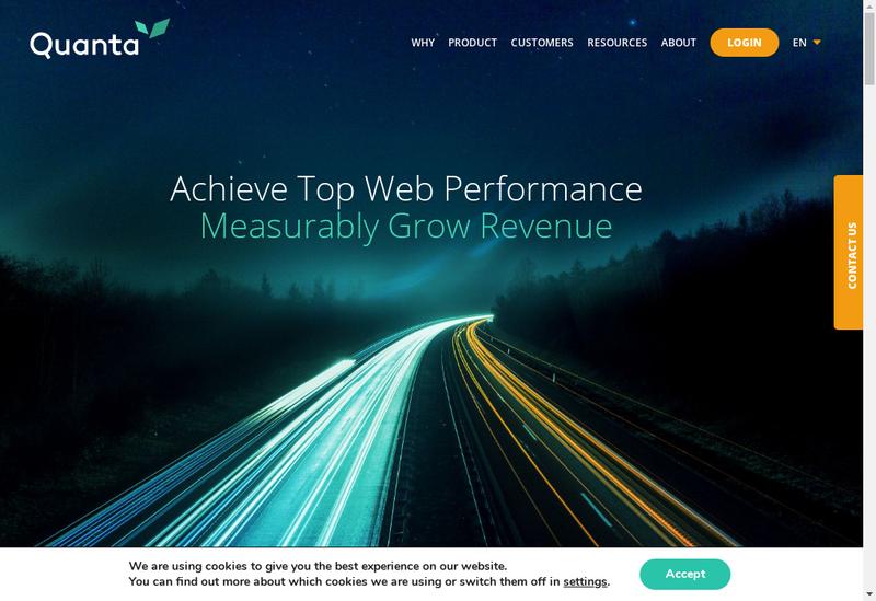 Capture d'écran du site de Quanta Computing