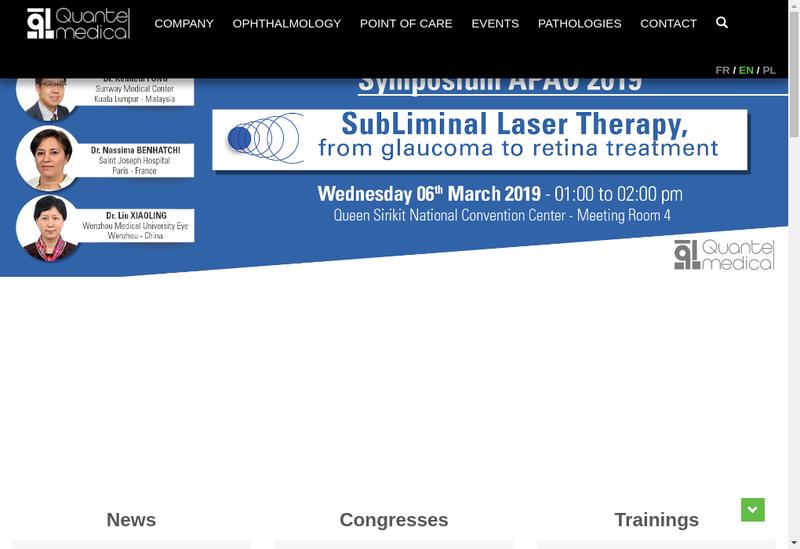 Capture d'écran du site de Quantel Medical