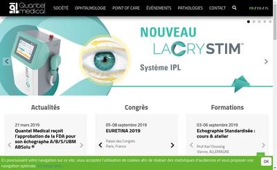 Site internet de Quantel Medical