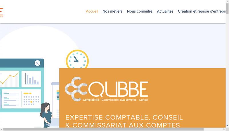 Capture d'écran du site de Qubbe