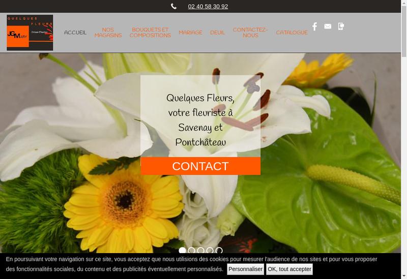 Capture d'écran du site de Quelques Fleurs