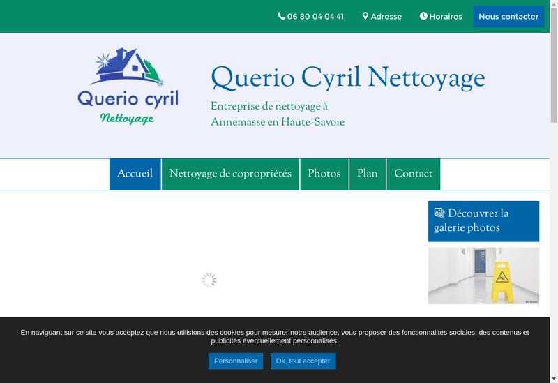 Capture d'écran du site de Cyril Querio