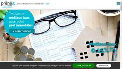 Site internet de Preneo Financement