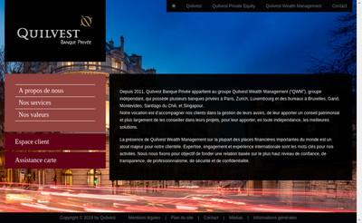Site internet de Quilvest Banque Privee