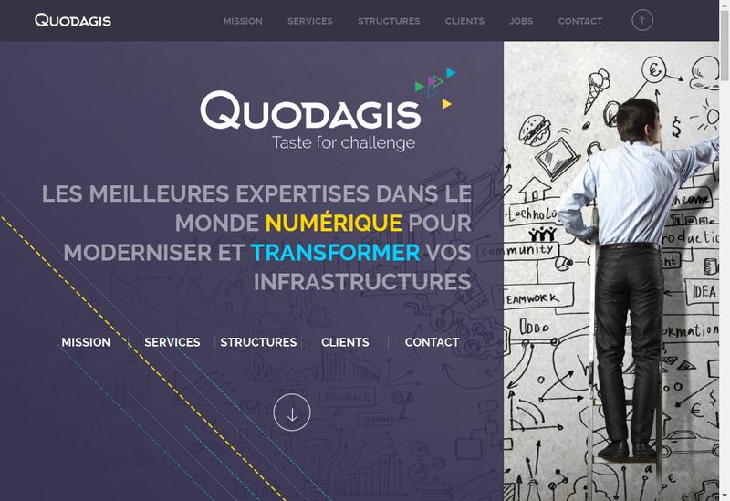 Capture d'écran du site de Quodagis It