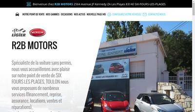 Site internet de R2B Motors