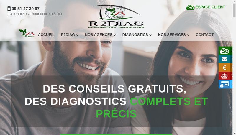Capture d'écran du site de R2Diag