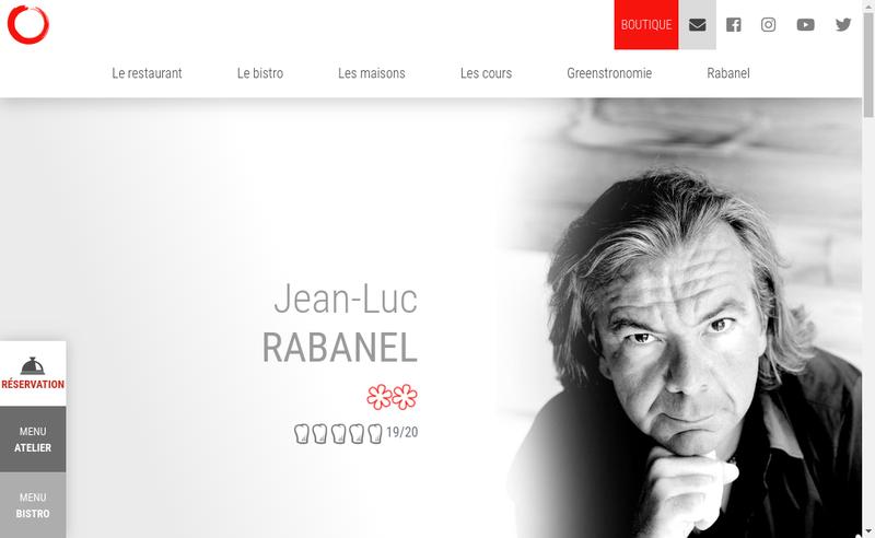 Capture d'écran du site de L'Atelier de Jean-Luc Rabanel