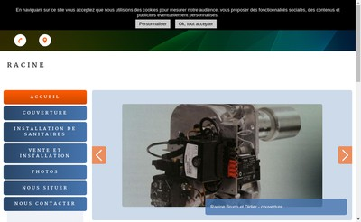 Site internet de SARL Racine