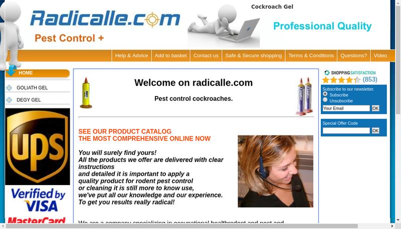 Capture d'écran du site de Radical
