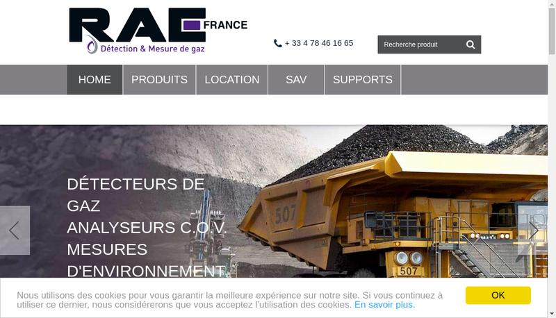 Capture d'écran du site de Rae France