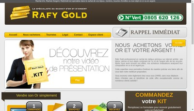 Site internet de Rafy Gold