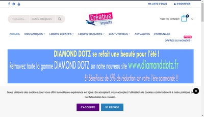 Site internet de Creative Imports
