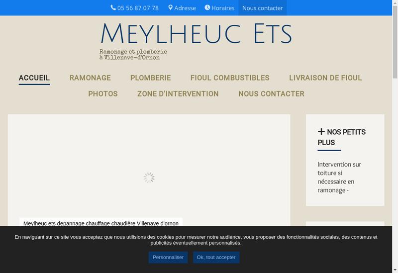 Capture d'écran du site de Etablissements Meylheuc SARL
