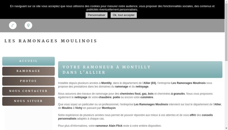 Capture d'écran du site de Alain Flick