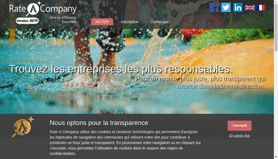 Site internet de Rate a Company