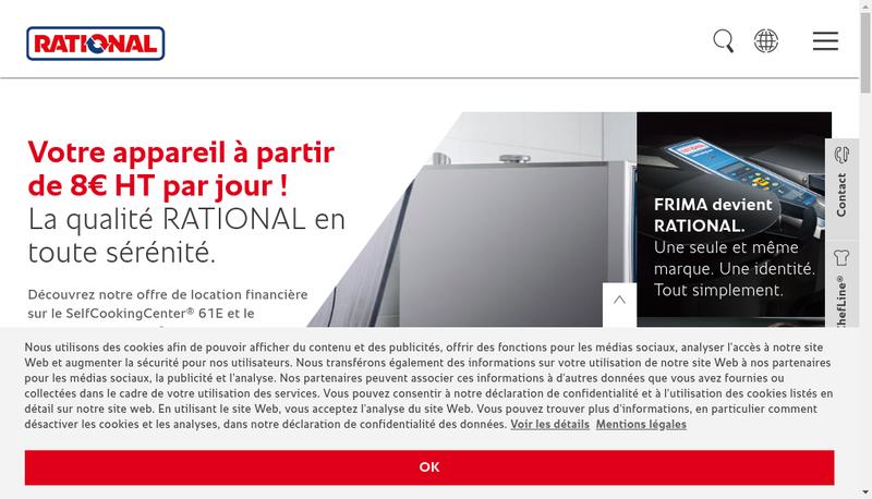 Capture d'écran du site de Rational France