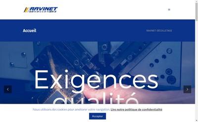 Site internet de Ravinet Decolletage