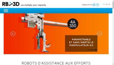 Site internet de Robotiques 3 Dimensions SARL