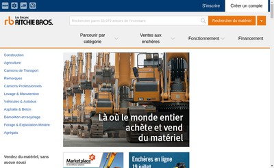 Site internet de Ritchie Bros Auctioneers France