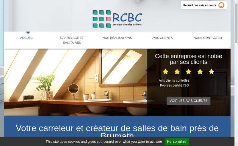 Capture d'écran du site de Rcbc-Rhenane Carrelage-Bain Concept