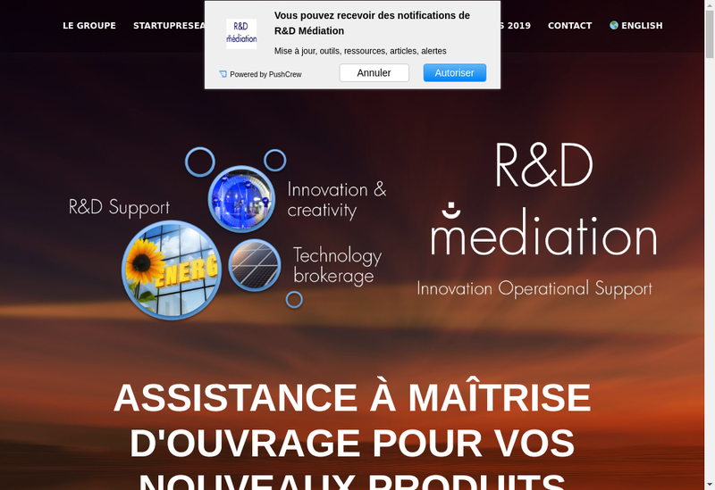 Capture d'écran du site de Mediation SAS