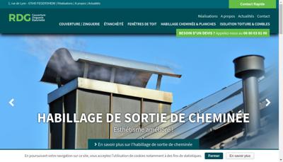 Capture d'écran du site de RDG