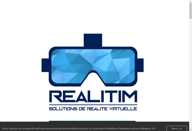 Capture d'écran du site de Realitim