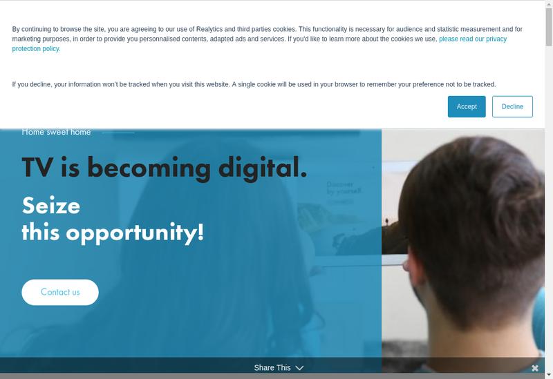 Capture d'écran du site de Realytics