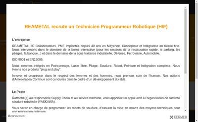 Site internet de Reametal