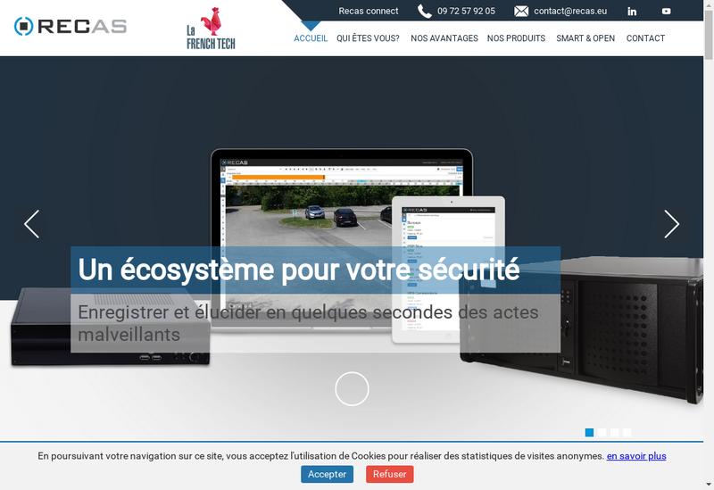 Capture d'écran du site de Recas