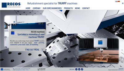 Site internet de Recos Machines