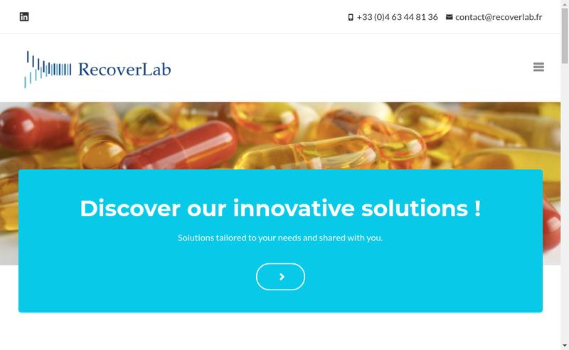 Capture d'écran du site de Recoverlab