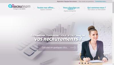 Site internet de Recruteam