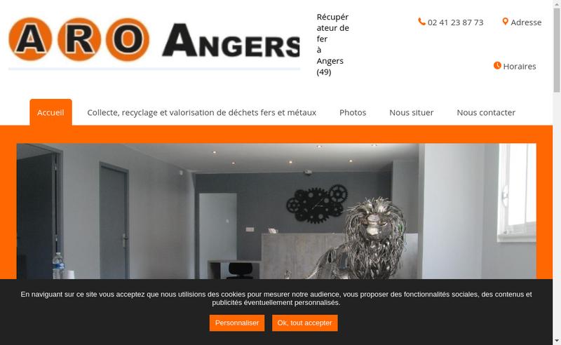 Capture d'écran du site de Aro Angers