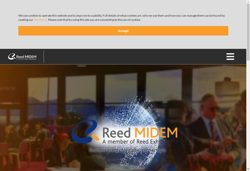 Capture d'écran du site de Reed Midem