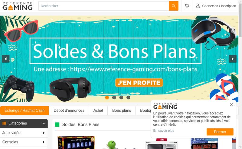 Capture d'écran du site de Reference Gaming